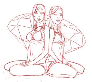 Sister's Secret cover sketch